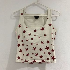 Square neck star top
